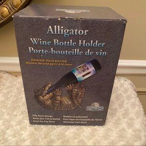 NWT Alligator Wine Bottle Holder by Rivers Edge